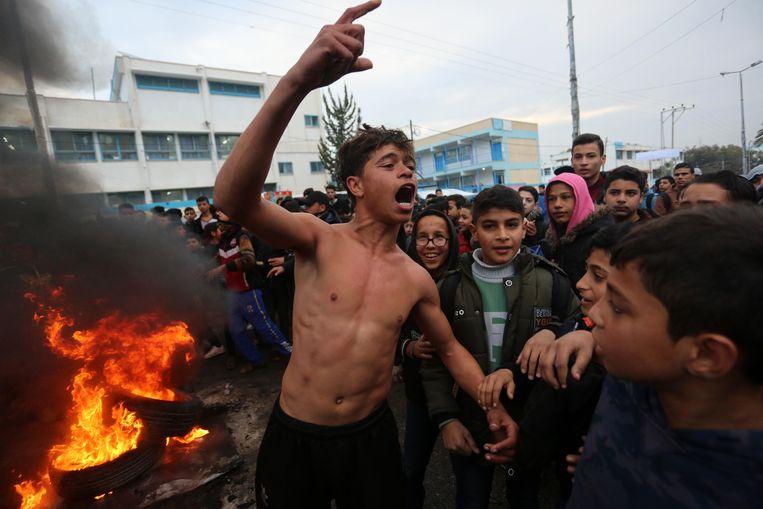 Het Palestijnse protest tegen het zogenaamde vredesplan is groot.