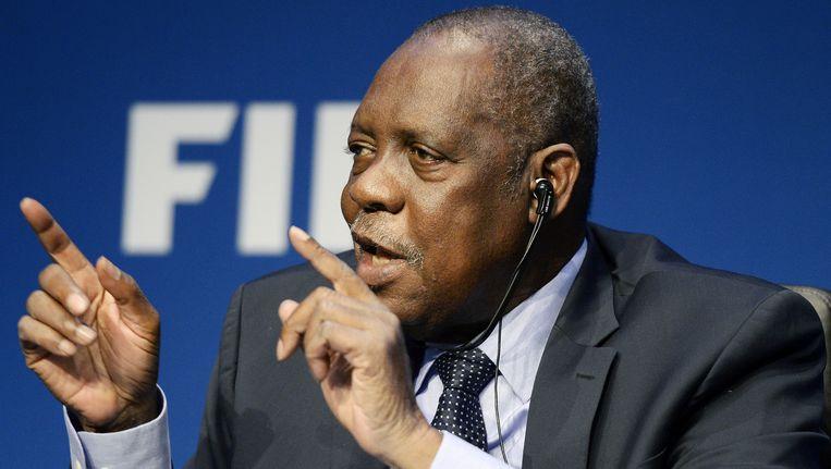 Issa Hayatou, tijdelijk voorzitter van de FIFA. Beeld ap