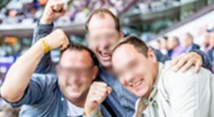 Les trois supporters de l'Antwerp