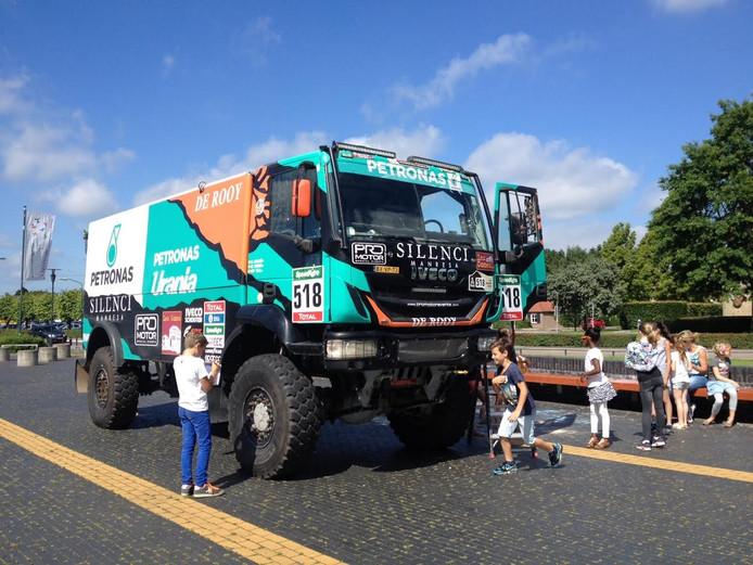Een vrachtwagen van de Dakar Rally werd ook ingezet bij de verkeersdag in Schijndel.