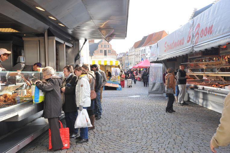 De zaterdagmarkt in Mechelen.