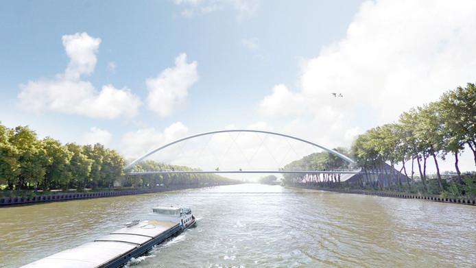 Eerste schets van Anton Geesinkbrug in Utrecht over het Amsterdam-Rijnkanaal.
