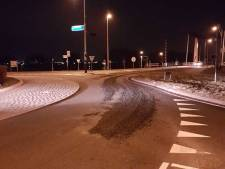 Truck verliest asfalt in Kampen