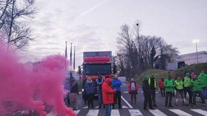 Werknemers UPS blokkeren eerst vestiging in Eindhoven en nadien in Diegem