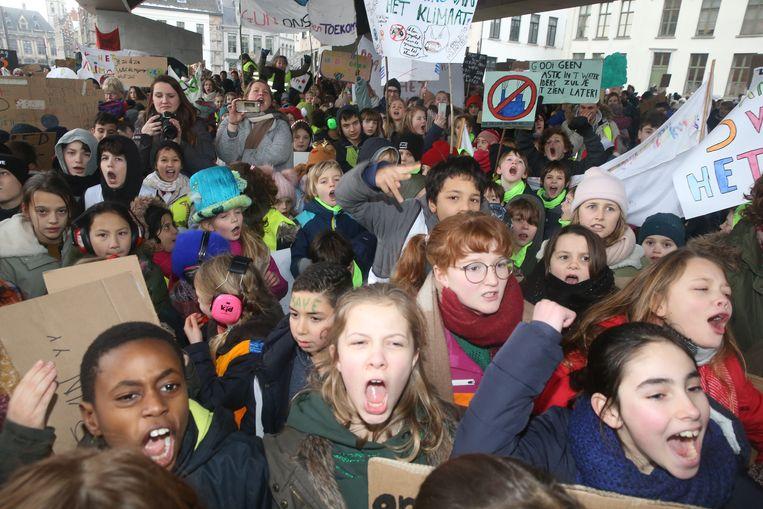 """""""Wij zeggen neen tegen CO2"""", klonk het klaar en duidelijk."""