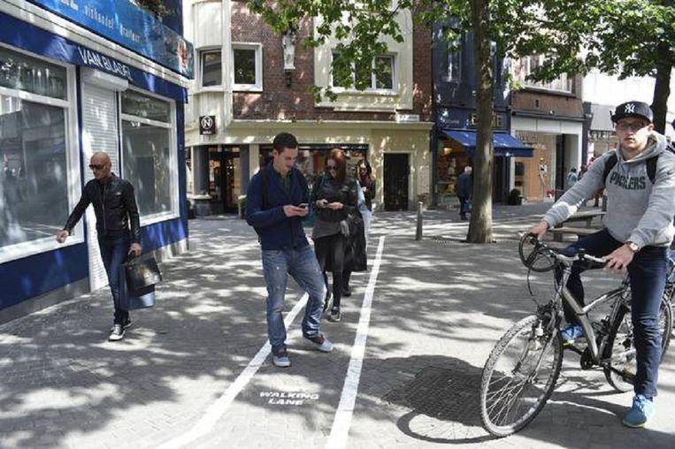Whatsappbaan in Antwerpen Beeld null