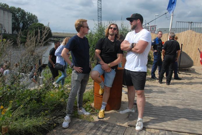 De organisatoren Robert Hoskam, Cees van Balen en Albert-Jan Buitendijk.
