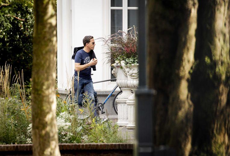 27 september: premier Rutte arriveert bij het Catshuis voor een informeel overleg over het coronavirus. Beeld ANP