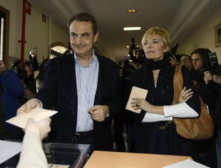 Zapatero met vrouw Sonsoles Espinosa.