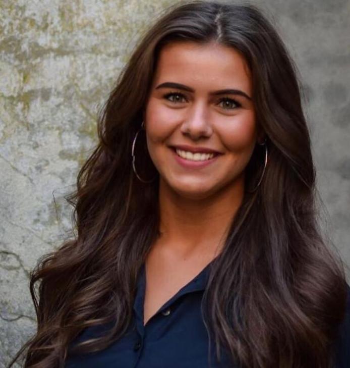 Cher van Hardeveld (20), de talentvolle kapster uit Zutphen.
