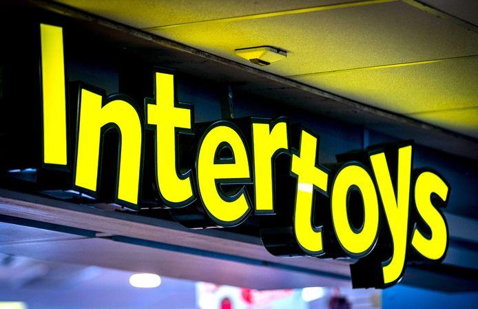 Logo van speelgoedwinkel Intertoys.