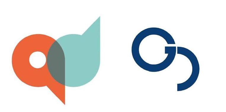 De twee logo's waartussen de inwoners kunnen kiezen.