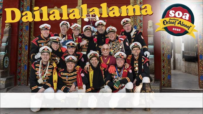 Het Gemertse Showorkest Octaaf Alaaf heeft met Dailalalalama een nieuw carnavalsnummer op de markt gebracht.