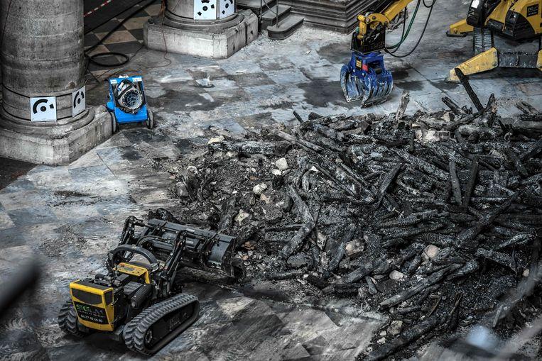 Bij de brand in de Notre-Dame kwam heel wat  lood vrij.