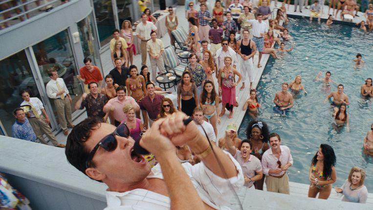 Leonardo DiCaprio als Jason Belfort in 'The Wolf of Wall Street'.