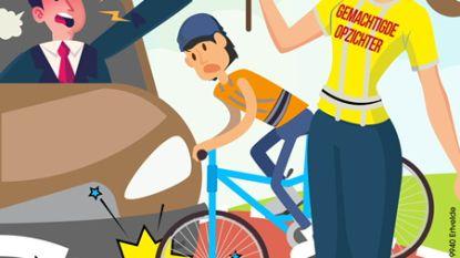 Affiche vraagt respect voor gemachtigde opzichters aan schoolpoorten