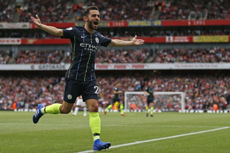 Bernardo Silva heeft er net op heerlijke wijze 0-2 van gemaakt. Man City was veel te sterk voor Arsenal.