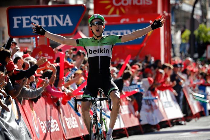 Bauke Mollema in de Vuelta van 2013