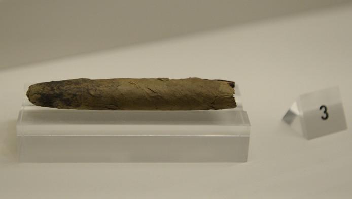 Een door Winston Churchill gerookte sigaar was in januari ook te bewonderen in een museum in de Britse hoofdstad Londen.