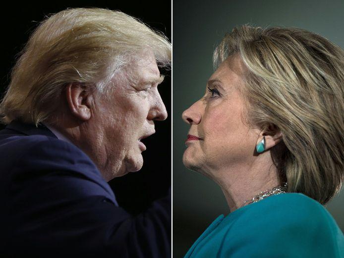 Donald Trump en Hillary Clinton.