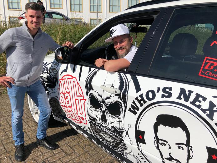Broers Yoni (links) en Davy Halans van het team Barbershop Who's Next doen voor de tweede keer mee dit jaar.
