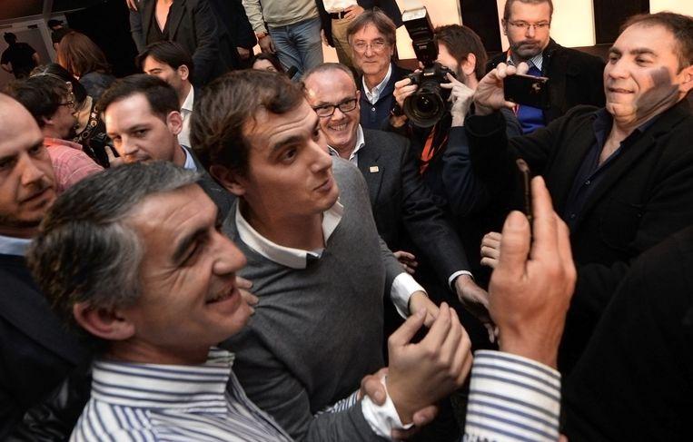 Hoge verwachtingen bij Ciudadanos-leider Albert Rivera. Beeld AFP