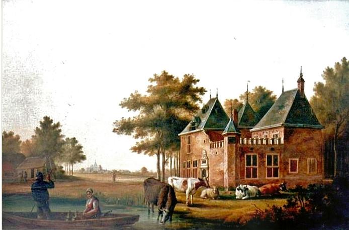 Kasteel Develstein, schilderij door J.W. Boshamer