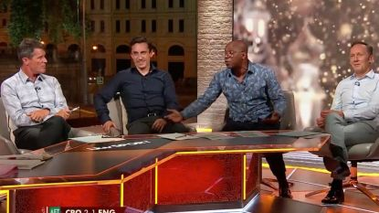 Woedende Roy Keane heeft het aan de stok met mede-analist Ian Wright over 'Football Is Coming home-gedoe' nog voor ze van Kroatië gewonnen hadden