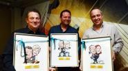 Pascal, Stefaan en Frank krijgen karikatuur