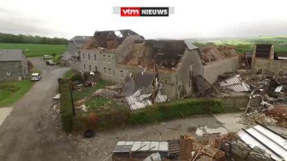 Onweer houdt lelijk huis in ons land: tornado blaast boerderij volledig weg