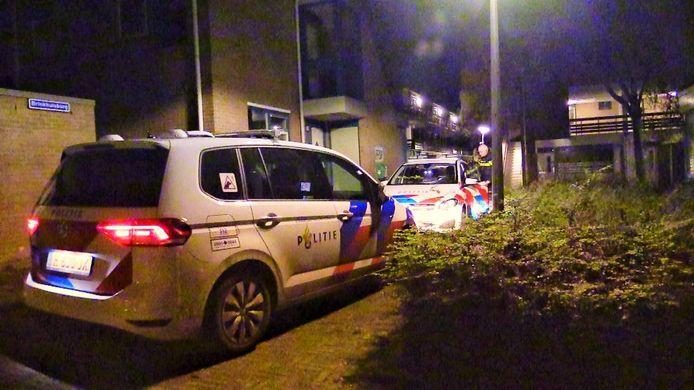 Politie in De Bothoven, na een overval op een Duitse man
