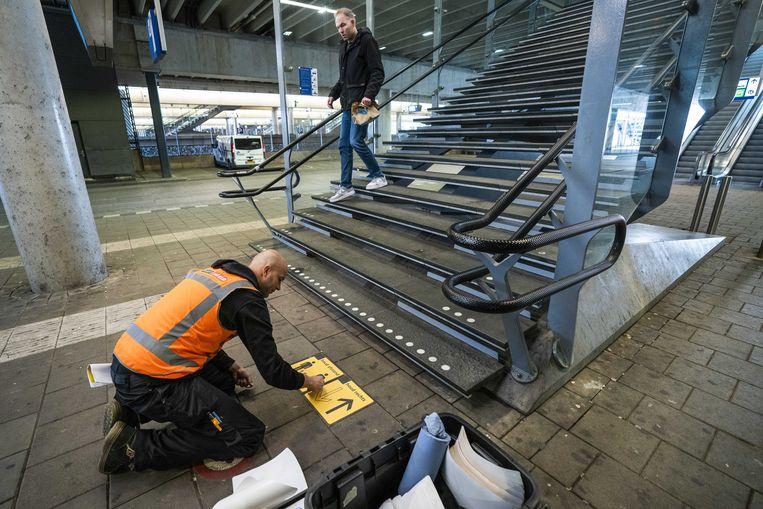Voorbereidingen op Utrecht Centraal. Beeld EPA