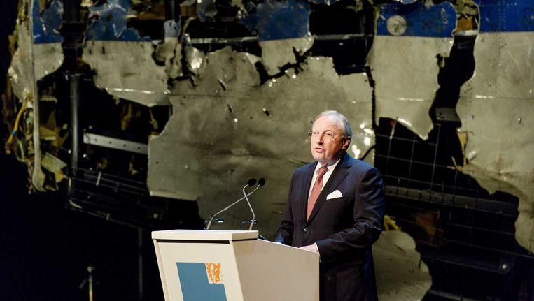 Tjibbe Joustra tijdens de presentatie van het OVV-rapport in Gilzen-Rijen. Beeld anp