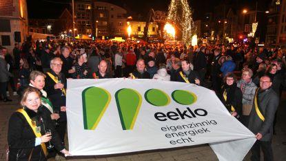 """Kritiek op nieuw logo Eeklo: """"Twee groene peren of twee groene tranen?"""""""