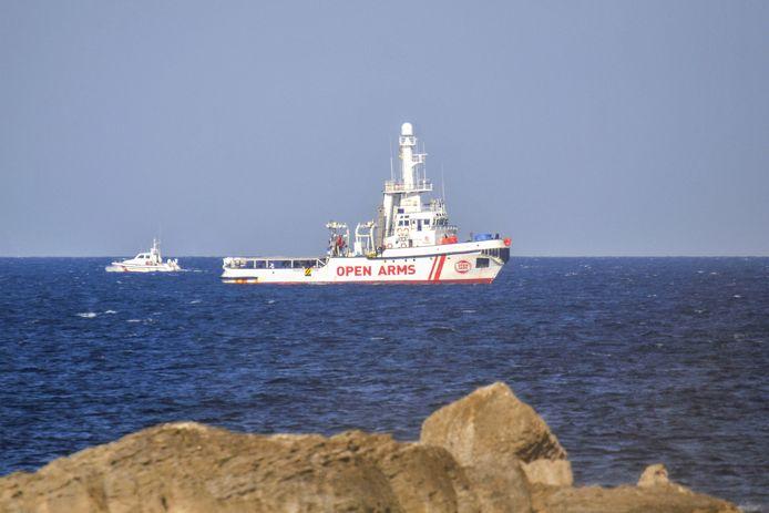 Het reddingsschip van de Spaanse ngo Open Arms