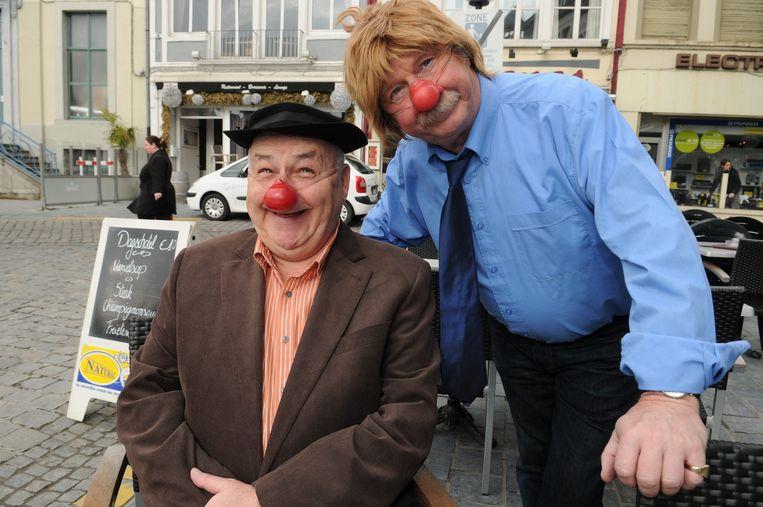 Pat Remue en Dirk Lajoie als circusartiesten