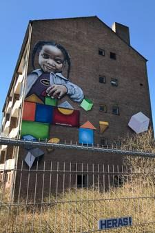 Sloop maakt einde aan graffiti op flat Bachweg