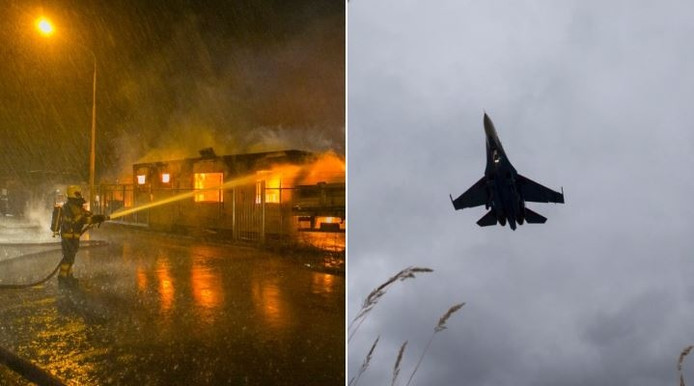 Nijmegenaren discussiëren op Twitter of de knal van een straaljager of brand kwam.