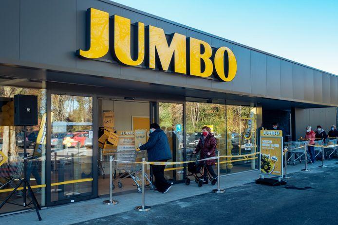 Opening van een Jumbo-supermarkt in Ranst, ter illustratie.