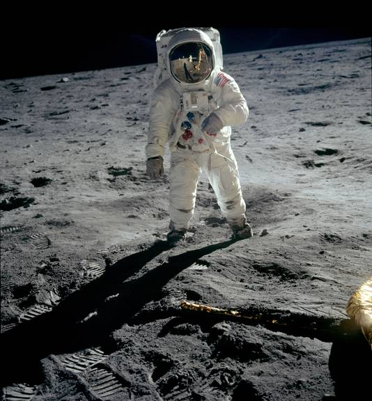 Still uit de film Apollo 11 in het Omniversum