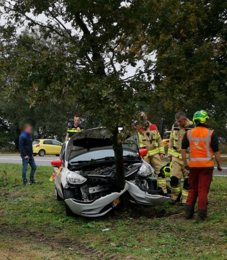Auto tegen boom na uitwijkmanoeuvre in Ede