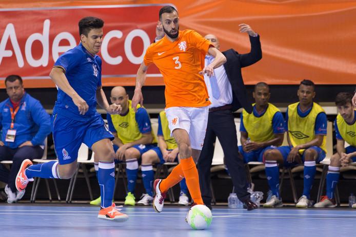 Jamal El Ghannouti in actie voor Oranje (archiefbeeld)