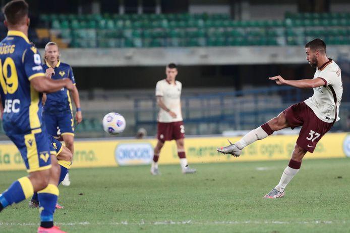 Leonardo Spinazzola in het shirt van AS Roma.