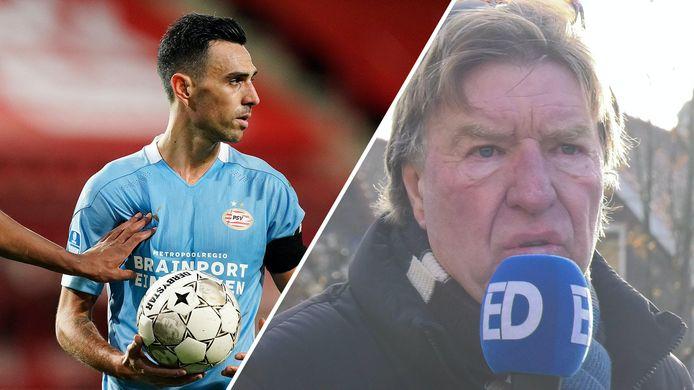 Aad de Mos duidt met Rik Elfrink de situatie omtrent PSV.