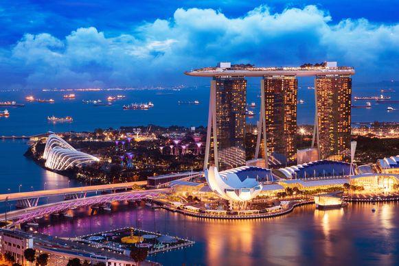 De skyline van Singapore. De stad is een interessante stopover voor lange lijnvluchten.