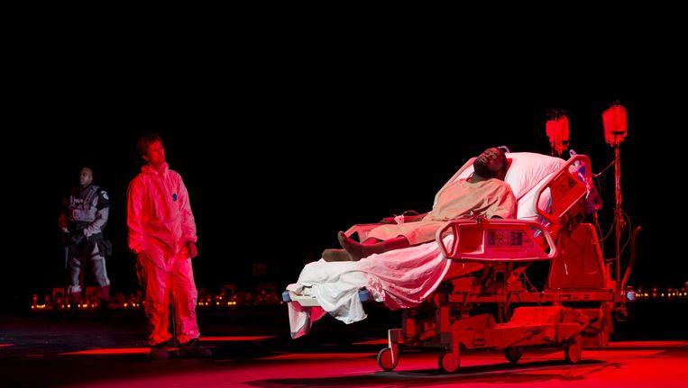 Paula Murrihy als Sesto en Russell Thomas als Tito in La clemenza di Tito bij De Nationale Opera. Beeld Ruth Walz