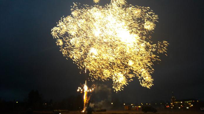Het vuurwerk na afloop.