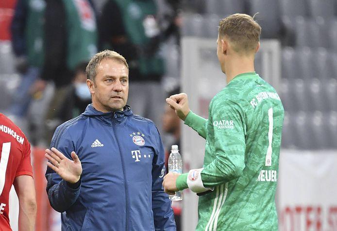 Trainer Hansi Flick en Manuel Neuer.