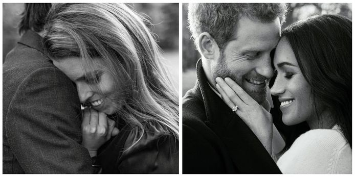 De foto van de verloving van Beatrice lijkt erg hard op die van Harry en Meghan.