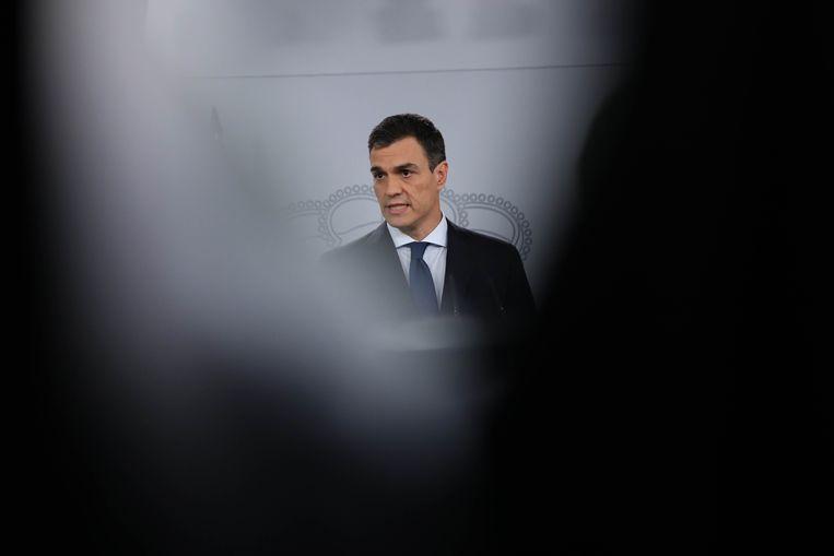 De nieuwe Spaanse minister-president Pedro Sanchez. Beeld Reuters